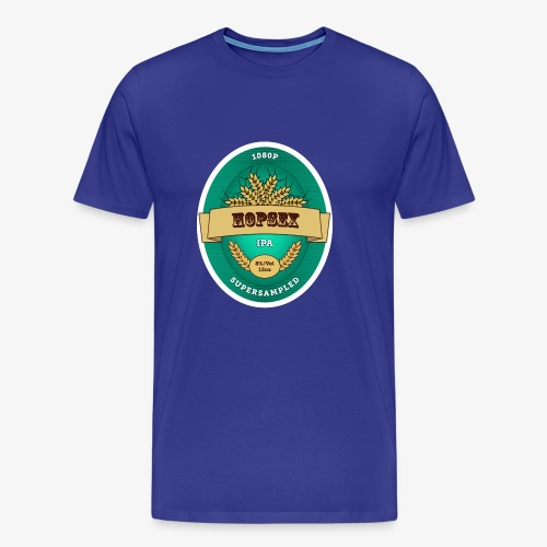 1080p Supersampled HOPSEX - Men's Premium T-Shirt
