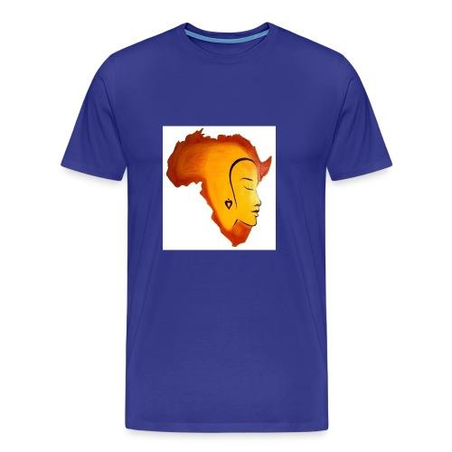 africa face - Men's Premium T-Shirt