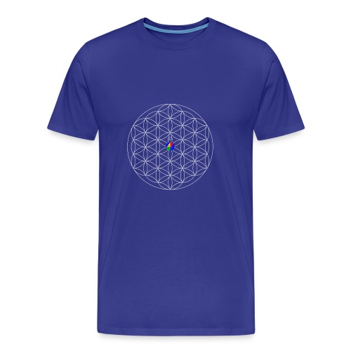 1200px-Flower-of-Life__aop-logo_dark - Men's Premium T-Shirt