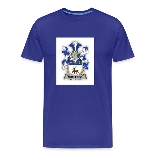 Rutledge family Crest - Men's Premium T-Shirt