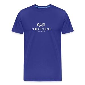 People People Media Co Logo White - Men's Premium T-Shirt