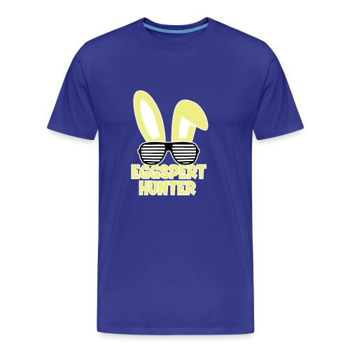 Eggspert Hunter Easter Bunny with Sunglasses - Men's Premium T-Shirt