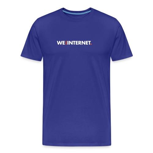 Classic WTI logo in white - Men's Premium T-Shirt