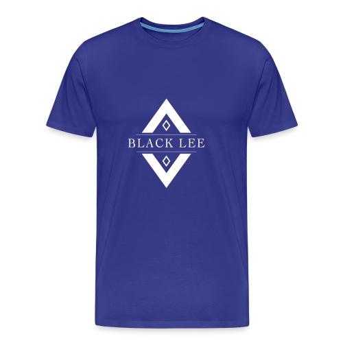 Black Lee Transparent Logo White T SHIRT - Men's Premium T-Shirt
