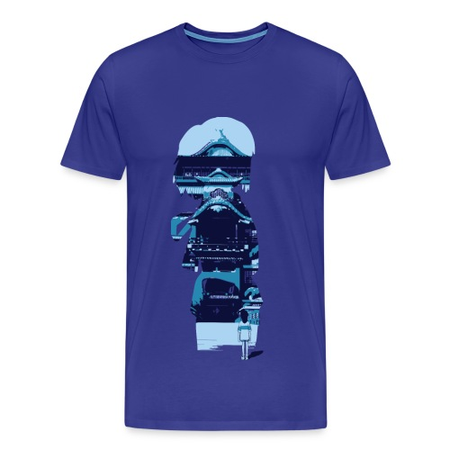 Chihiro looking into her imagination — Winter - Men's Premium T-Shirt