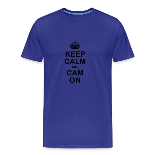 Keep Calm And Cam On - Black - Men's Premium T-Shirt