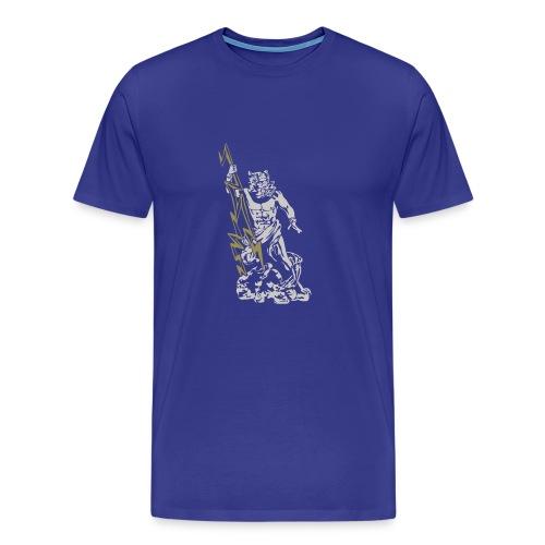 Zeus Gott Griechenland Olymp Herrscherblitz Jupite - Men's Premium T-Shirt