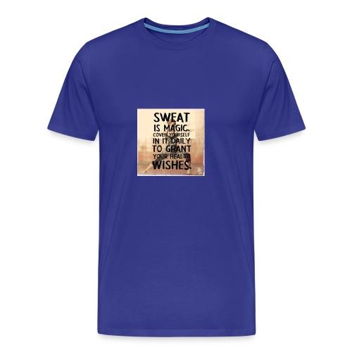 fitness motivation quote sweat is magic - Men's Premium T-Shirt