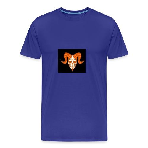 Horror Bull Logo - Men's Premium T-Shirt