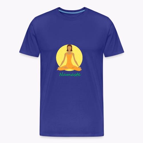yoga namaste chanting - Men's Premium T-Shirt