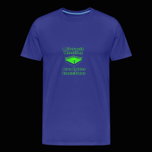 Mid-South Wrestling News Neon/Lime Green - Men's Premium T-Shirt