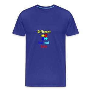 Autism - Different but Not Less - Men's Premium T-Shirt