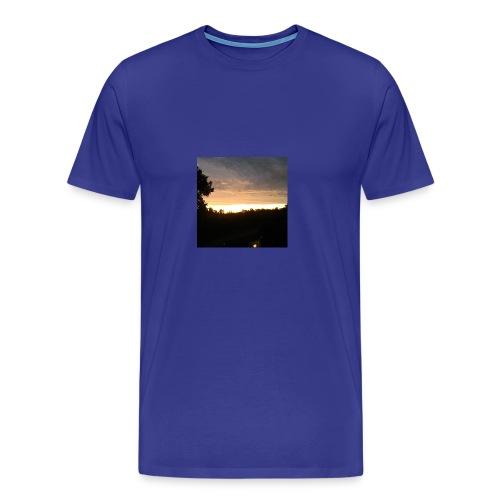 Country side sunset - Men's Premium T-Shirt