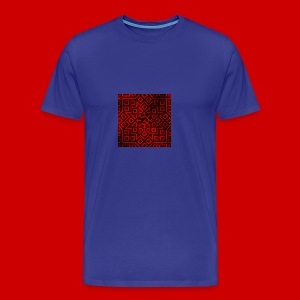 Detailed Chaos Communism Button - Men's Premium T-Shirt