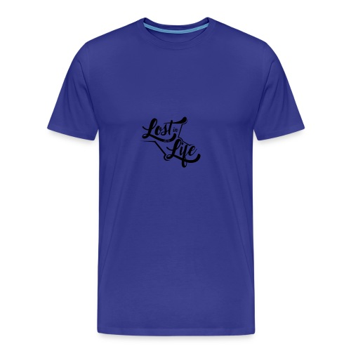 Lost in Life Black on Light logo small - Men's Premium T-Shirt
