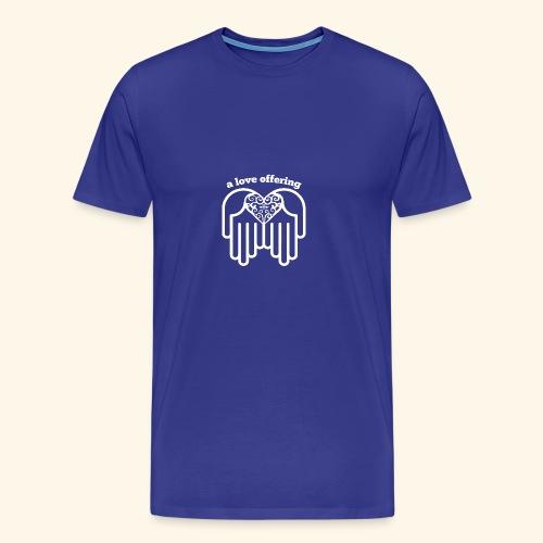 a love offering white - Men's Premium T-Shirt
