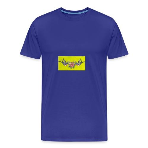 Roses birds - Men's Premium T-Shirt