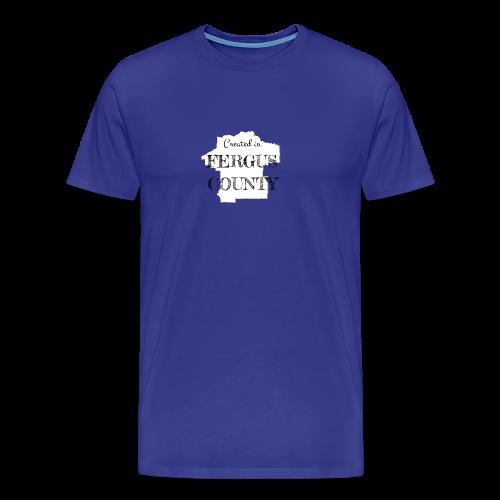 Created in Fergus County - Men's Premium T-Shirt