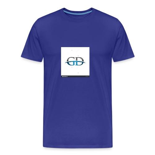 stock vector gd initial company blue swoosh logo 3 - Men's Premium T-Shirt