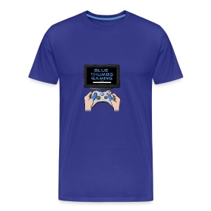 Blue Thumbs Gaming: Gamepad Logo - Men's Premium T-Shirt