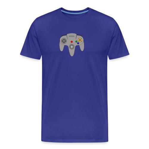 Retro64 Controller - Primal Lettering - Men's Premium T-Shirt