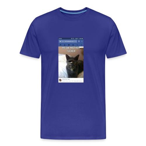 Meow Mother Fker Cat Pulp Fiction parody - Men's Premium T-Shirt