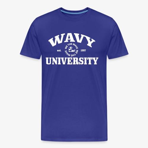 Wavy U (White) - Men's Premium T-Shirt