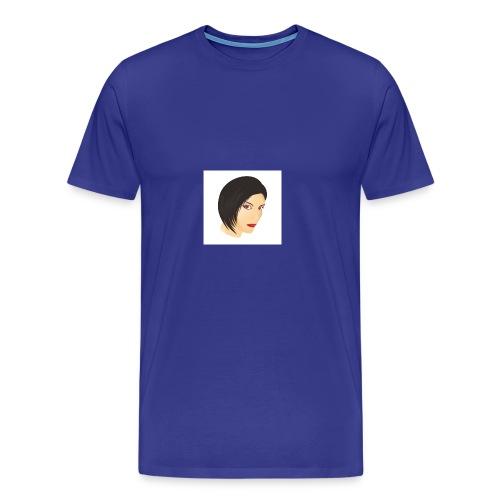 Red eyes woman face design - Men's Premium T-Shirt