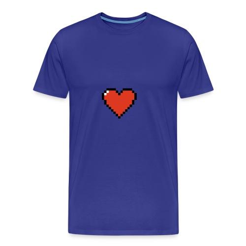 Pixel Wave Heart - Men's Premium T-Shirt