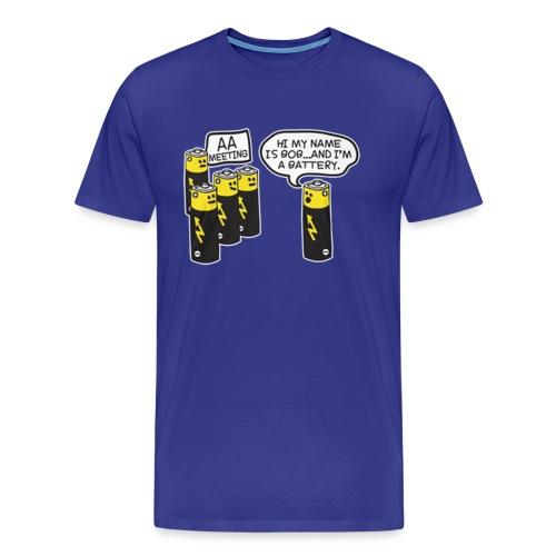 AA BATTERY FUNNY - Men's Premium T-Shirt