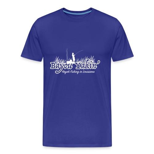 Bayou Yakin' Logo in White - Men's Premium T-Shirt
