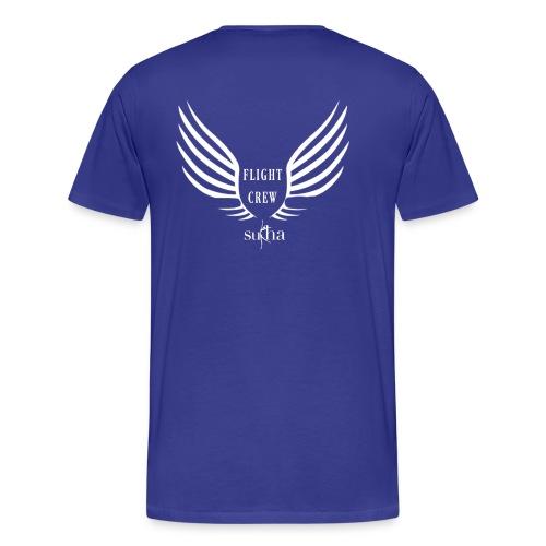 flight crew logo white - Men's Premium T-Shirt