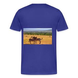 Kenya zebras - Men's Premium T-Shirt