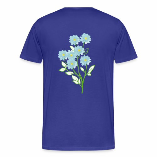 blue flower - Men's Premium T-Shirt