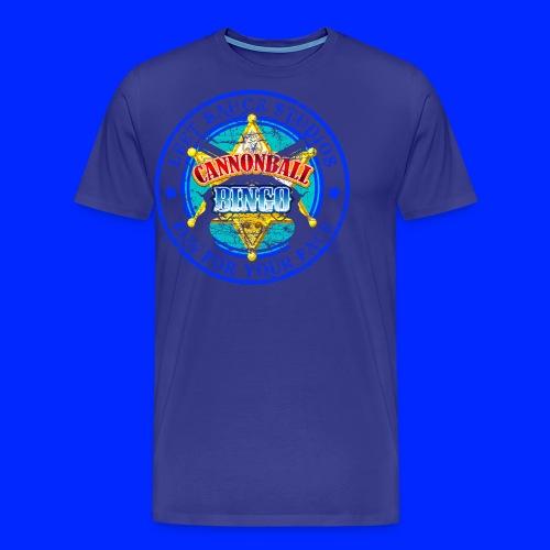 Vintage Cannonball Bingo Badge Blue - Men's Premium T-Shirt