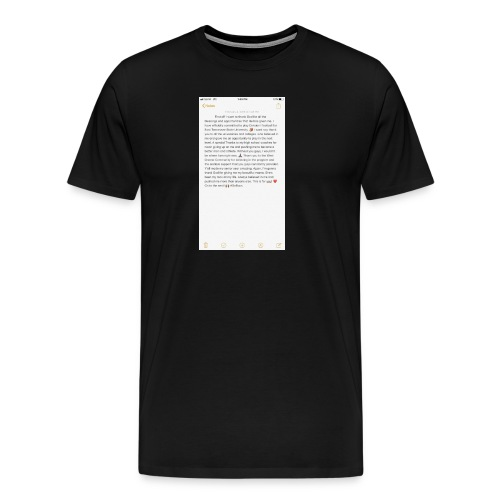 Text from a Football Commit - Men's Premium T-Shirt