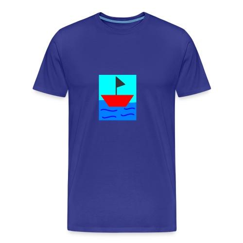 MS Paint Boat - Men's Premium T-Shirt