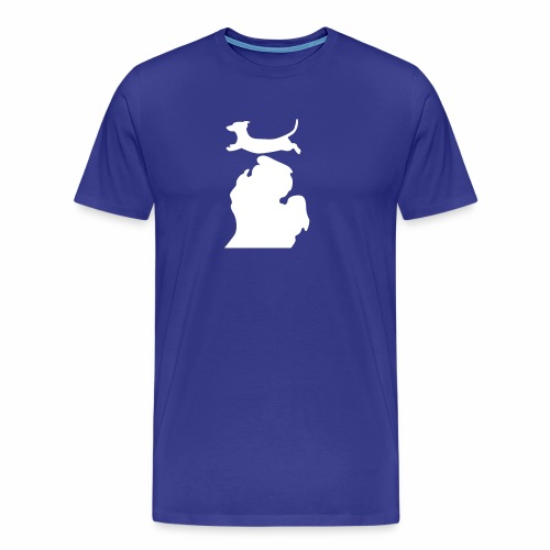Dachshund Bark Michigan womens shirt - Men's Premium T-Shirt