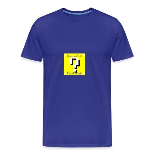 Keep Calm & Punch Blocks - Men's Premium T-Shirt