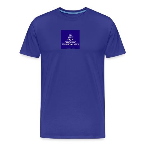KeepCalm blue and white edition - Men's Premium T-Shirt