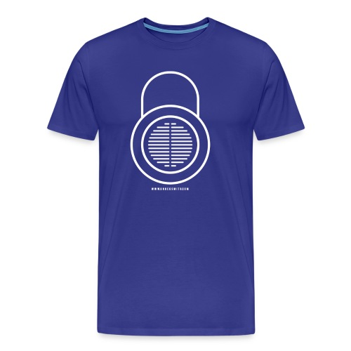 Knocksmith Green Lock Logo White - Men's Premium T-Shirt
