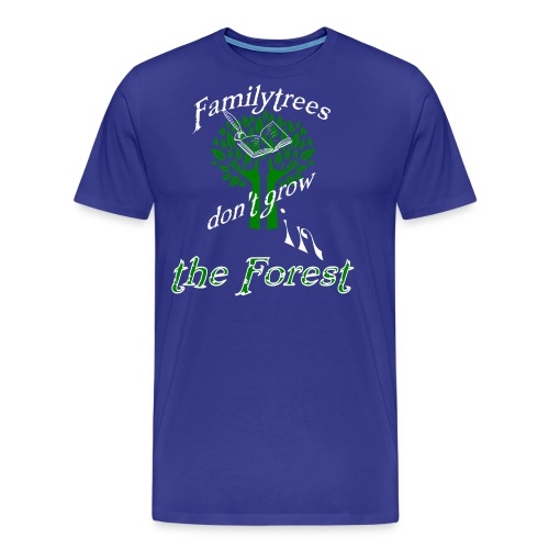 genealogy family tree forest funny birthday gift - Men's Premium T-Shirt