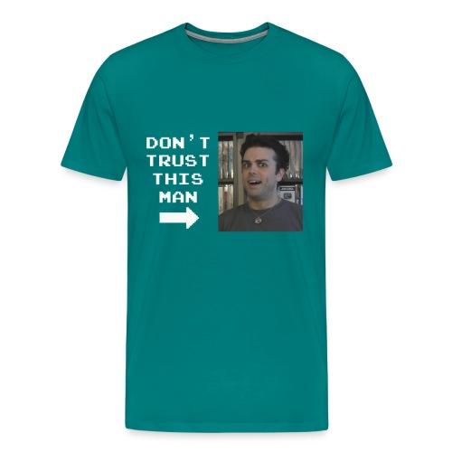do not trust pat shirt white letters - Men's Premium T-Shirt