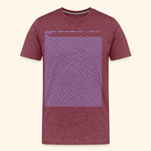10 PRINT CHR$(205.5 RND(1)); : GOTO 10 - Men's Premium T-Shirt