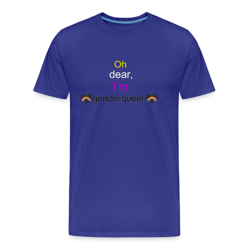 Oh Dear, I'm Genderqueer (with nonbinary colors) - Men's Premium T-Shirt