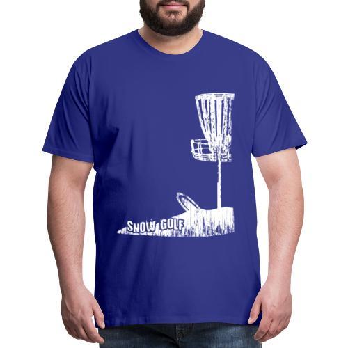 Snow Disc Golf Shirt White Print - Men's Premium T-Shirt