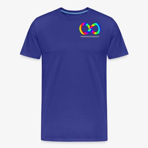 Neurodiversity with Rainbow swirl - Men's Premium T-Shirt