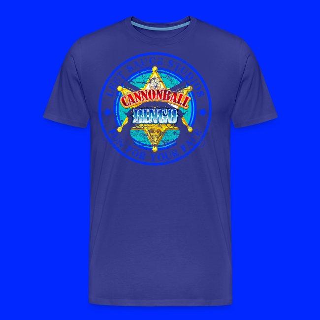 Vintage Cannonball Bingo Badge Blue