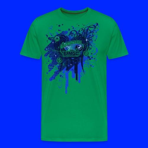 Vintage Cannonball Bingo Drip Blue - Men's Premium T-Shirt
