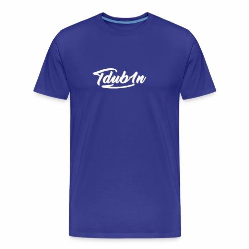 Tdub1n White Logo - Men's Premium T-Shirt